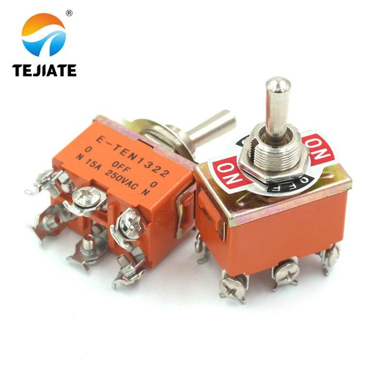 Микро Переключатель E-TEN1322 тумблер 6 pin головок 3 класса переключатель двухполюсный двойной переключатель переключения питания
