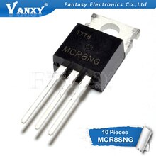 10 pièces MCR8SNG À-220 MCR8SN TO220 SCR 8A 800V MCRBSNG nouveau original