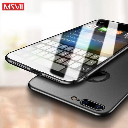 100% Оригинальный MSVII Роскошный чехол для iphone 7 (4,7 ) и iphone 7 plus (5,5), Жесткий ПК простой и матовый чехол-накладка