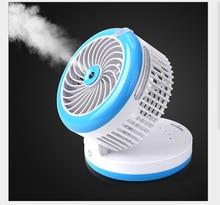 Mini ventilador eléctrico, rociador de agua para refrigerador, dispensador de perfume portátil de mano con carga USB, ventilador eléctrico de rotación de 90 grados