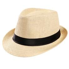 Chapeau de soleil unisexe pour hommes   Printemps, casquette de paille bohème décontractée vacances femme large bord, plage Jazz chapeaux pliables, bande, Drop shipping