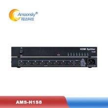 Meilleur achat 1080P HD 18 HDMI répartiteur 4K x 2K EDID HDMI V1.4 1 en 8 outsupport 3D