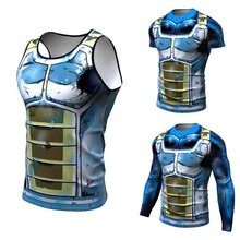 Dragon Ball T-shirt 3D hommes Tshits Anime T-shirt Comics hauts de Compression Goku balle Z T-shirt mode 2018 végéta Camiseta ZOOTOP ours