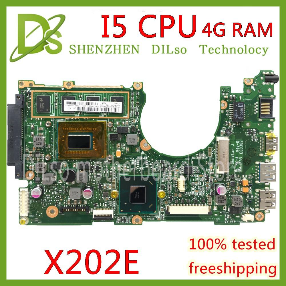 KEFU x202e ل ASUS S200E X202E X201E X202EP Vivobook اللوحة REV2.0 I5 CPU 4G RAM onboard 100% اختبار العمل
