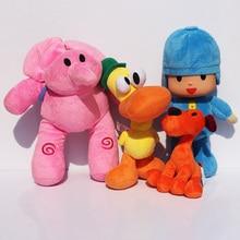 Plus récent 4 pièces/lot enfants Brinquedos cadeau Pocoyo Elly & Pato & POCOYO & Loula peluche jouets bon cadeau pour les enfants livraison gratuite