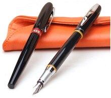 Pimio 907 Luxus Glatte Schwarze und Rote Streifen 0,5mm Iridium Nib Metall Füllfederhalter mit Original Geschenkbox Kugelschreiber Kostenlose verschiffen