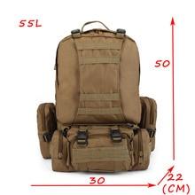 50L hommes Camouflage sac à dos militaire survie sac à dos hommes voyage alpinisme sac grande capacité bagages sacs mochila