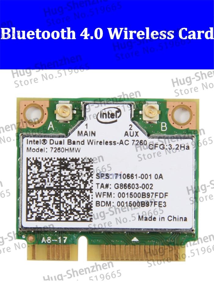 Intel Dual Band Wireless-AC 7260 7260HMW 7260AC 7260HMWAC 867Mbps media Mini PCI-E bluetooth4.0 wifi inalámbrico tarjeta