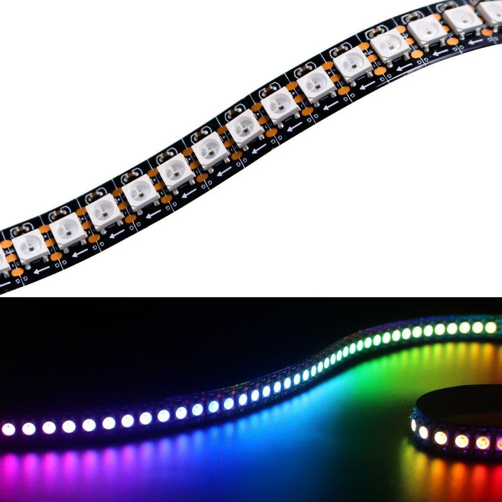 1 м матрица 5В SK6812 WS2812B гибкая светодиодная лента 5050 RGB SM 144 светодиодов/м Адресуемая Пиксельная полноцветная световая полоса