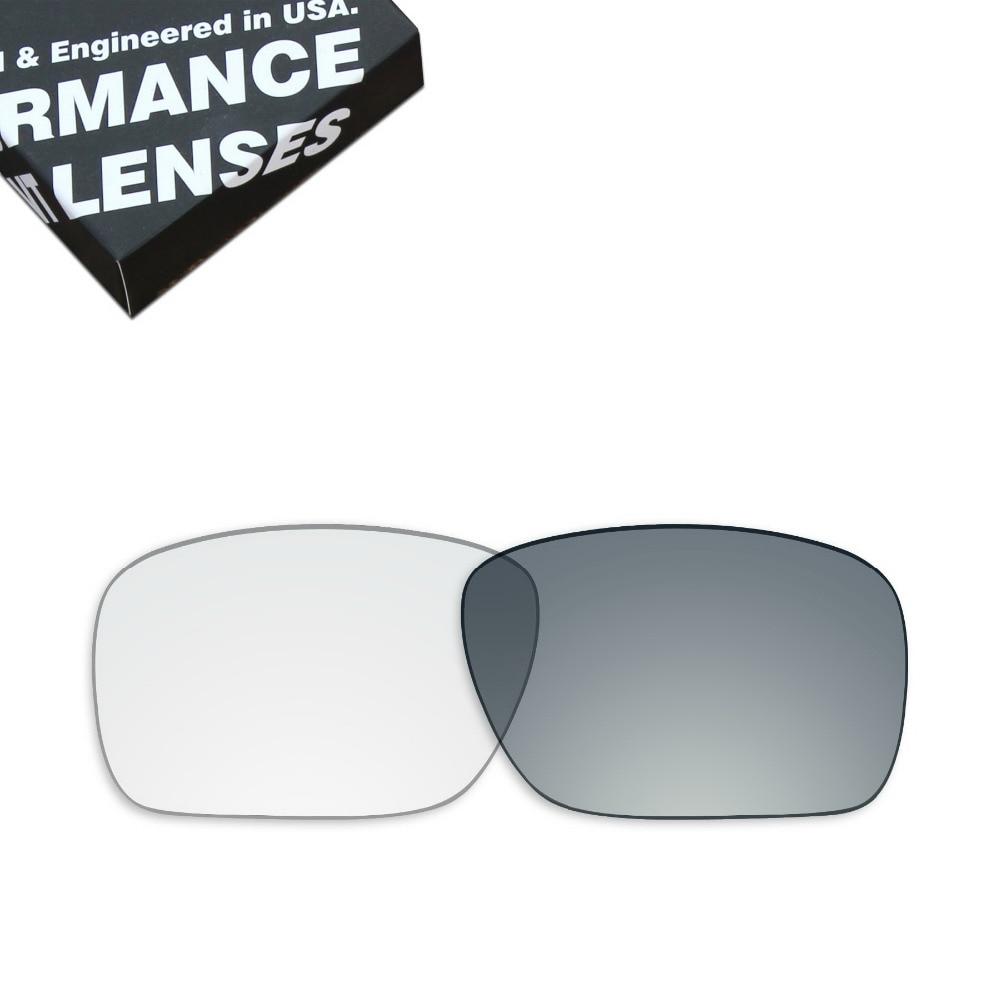 Lentes de repuesto ToughAsNails para gafas de sol Oakley Holbrook Color transparente fotocromático (solo lentes)