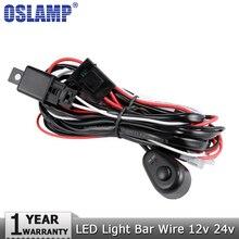 Oslamp faisceau de câblage câble de la barre   Auto, feux de conduite, câble 40A 12v 24v Kit de relais de commutation