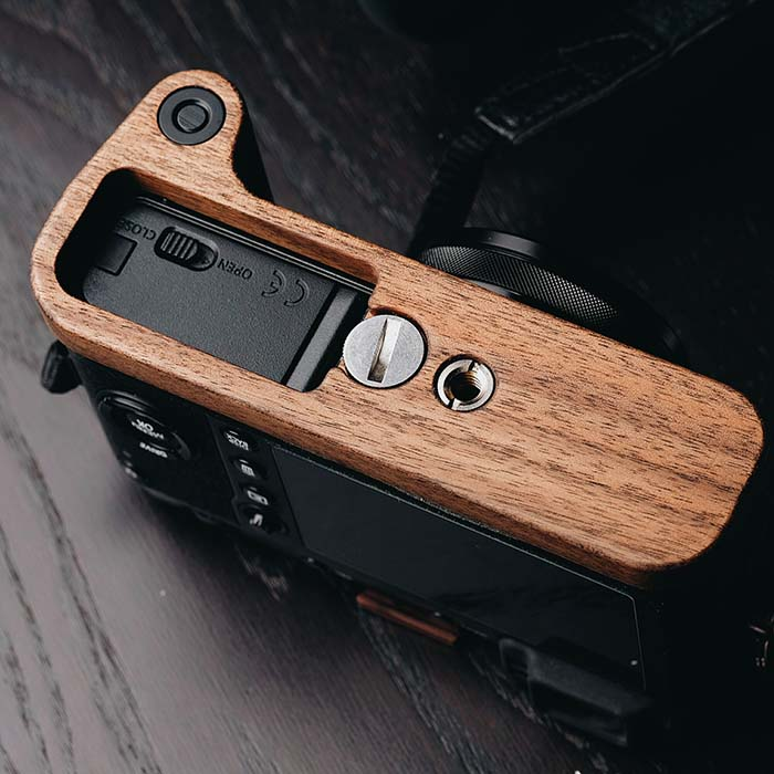 Customized Handmade Wooden Quick Release L Plate VerticaL Bracket Perfect Fit For Fuji Fujifilm X 100f enlarge