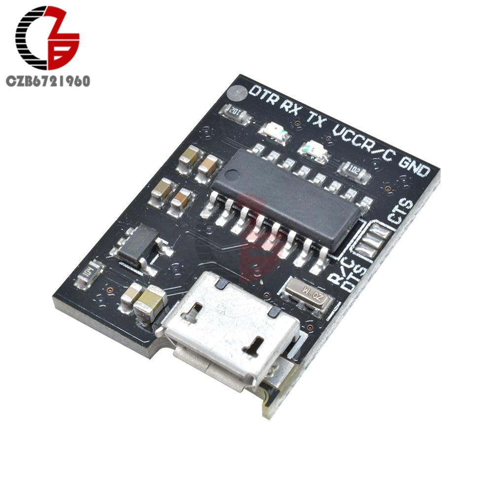 3,3 V 5V WeMos CH340G Placa de adaptación Micro Puerto USB a serie módulo interruptor RTS CTS para Arduino Pro Mini ESP8266 ESP-01 ESP-02