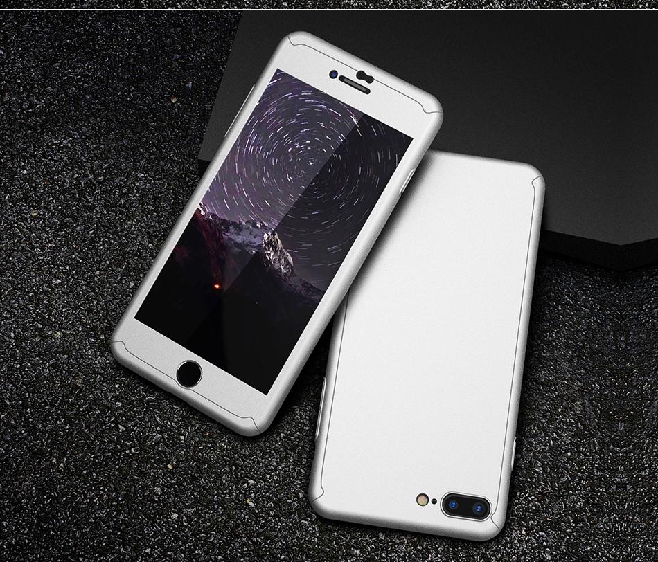 Floveme 360 pełna ochronne twarde etui na telefony iphone 6 6s plus 7 7 plus coque luksusowe odporny na wstrząsy case + ekran szkła Protector 15
