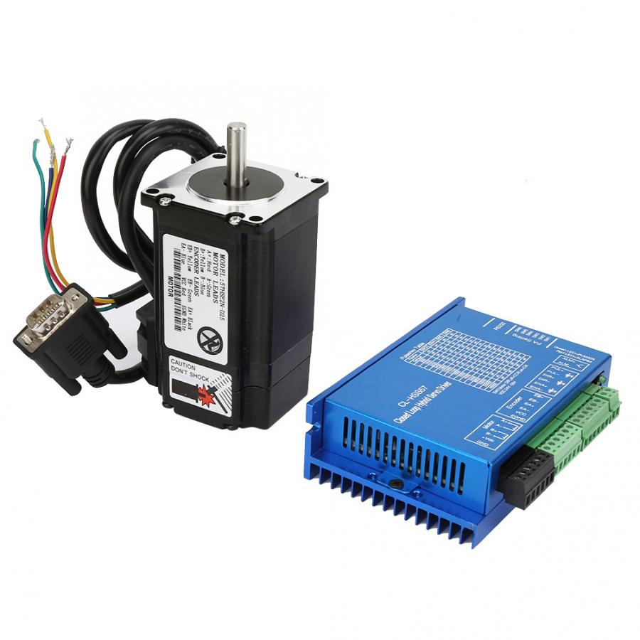 Controlador de Servo híbrido 150W 23 juego de Motor paso a paso de cierre + Servo controlador híbrido + RS232 línea serie 2N ¡! M
