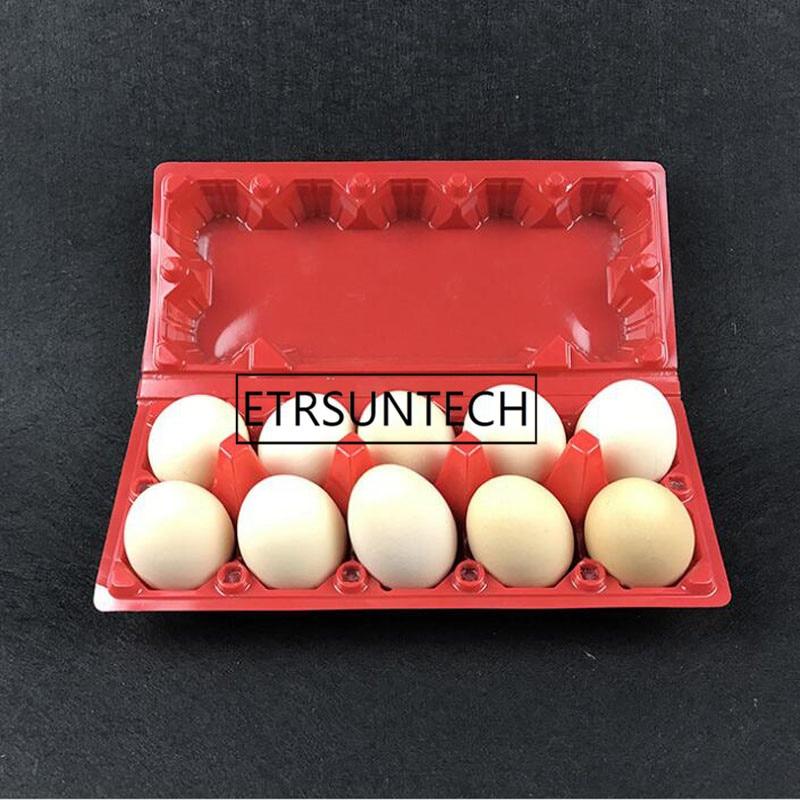 500 шт. коробка для упаковки яиц, праздничная упаковка для детей на день рождения, подарочные принадлежности из красного пластика, блистерная...