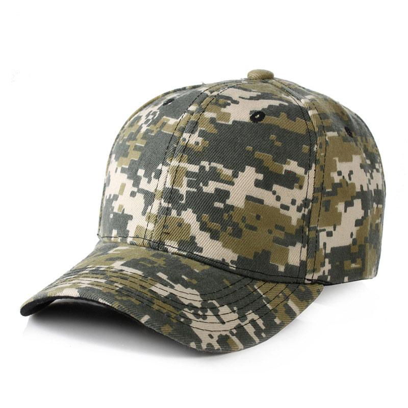 Gorra de béisbol para hombre con estampado Digital de camuflaje gorra de béisbol ajustable para acampar al aire libre caza