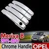 Housse de poignée chromée pour Opel Meriva B | 2011-2017 ensemble de garniture de poignée Vauxhall 2012 2013 2014 2015 accessoires de voiture autocollants style de voiture