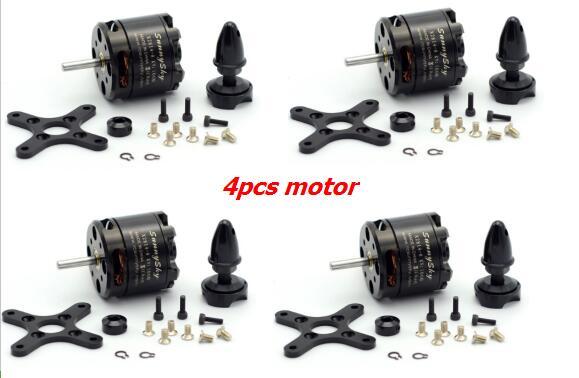 4 Uds SunnySky X2814 900KV 1000KV 1100KV 1250KV 1450KV Outrunner Motor sin escobillas para Rotor externo