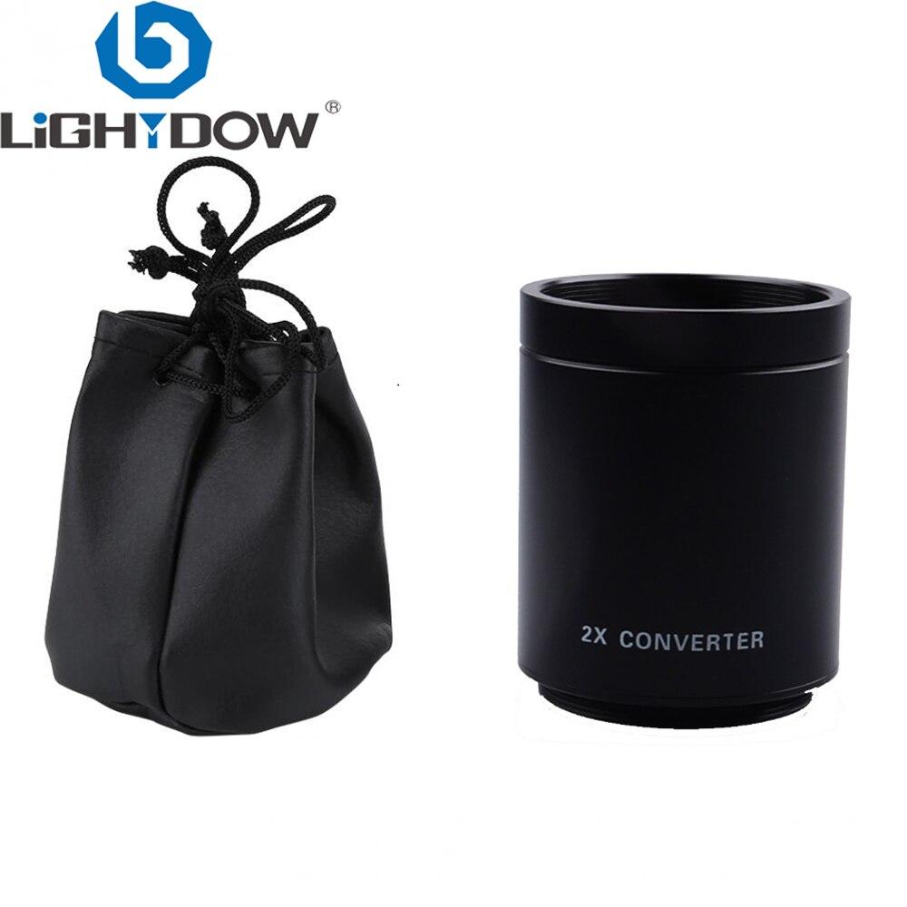 Lightdow 2x Converter Teleconverter Magnification lens forT Mount 420-800mm 500mm 800mm 900mm 650-1300mm Telephoto Lens