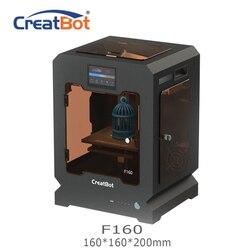 F160 creatbot impressora 3d única extrusora 160*160*200mm 1.75mm abs impressão barato impressora 3d ultem peek impressora