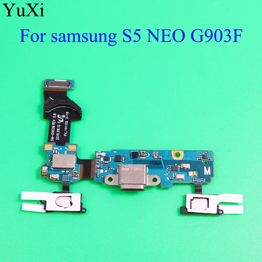 YuXi para Samsung Galaxy S5 Neo SM-G903F G903F USB cargador conector Puerto carga Puerto Flex Cable