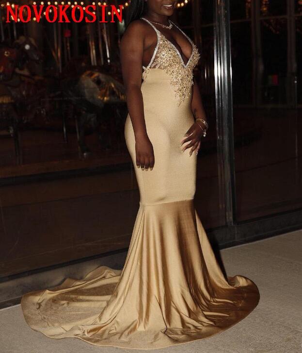 Женское вечернее платье-русалка, расшитое бисером, с открытой спиной и аппликацией, недорого, 2019