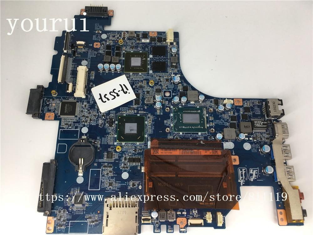 Yourui لسوني Vaio SVF152 SVF1521A2EB المحمول للوحة الأم DA0HK9MB6D0 مع وحدة المعالجة المركزية i7-3537U DDR3 اختبار موافق