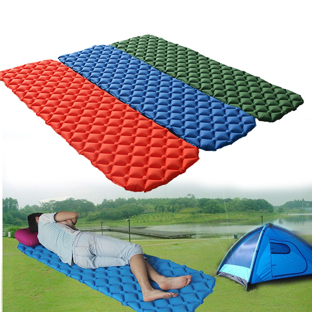 Ultralight Inflatable Air Mattress Bed CAMPING Picnic RELAX AIRBED MATTRESS Sleeping Pad Tent Moistureproof Pad Waterproof