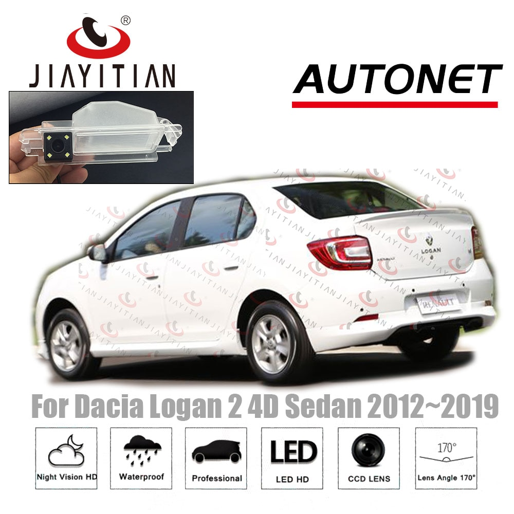 JiaYiTian vista trasera de coche cámara para Dacia Logan 2 Renault Logan 2 sedán 2012, 2013, 2014, 2015, 2016, 2017, 2018, 2019 de la cámara CCD