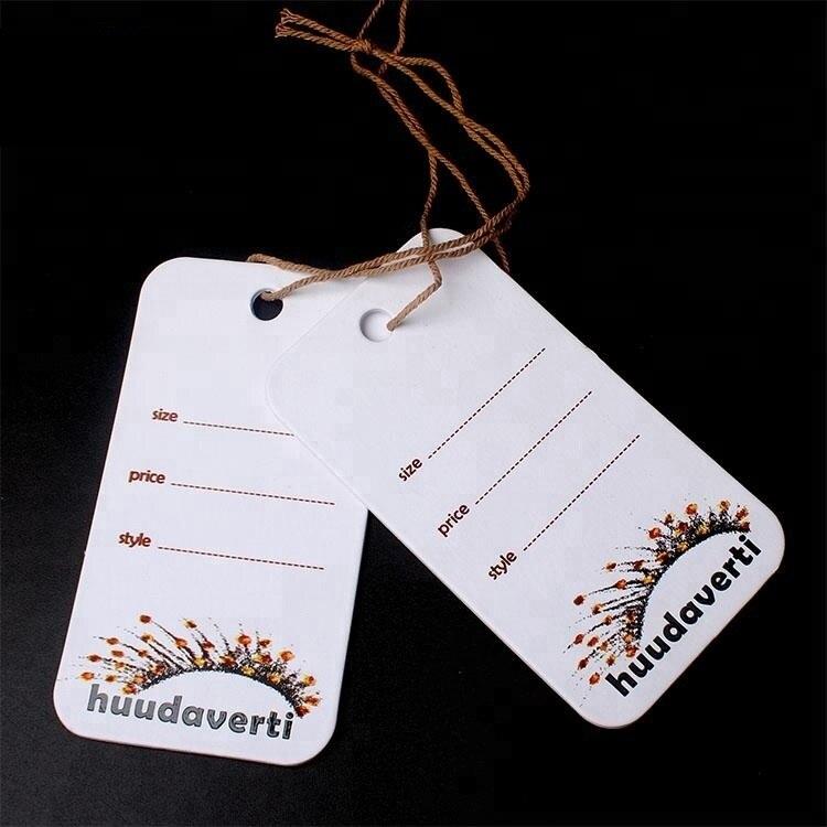 Etiquetas colgantes de cartón de papel, etiquetas colgantes Vintage con Logo impreso personalizado de diseño OEM, etiquetas colgantes de lujo para ropa