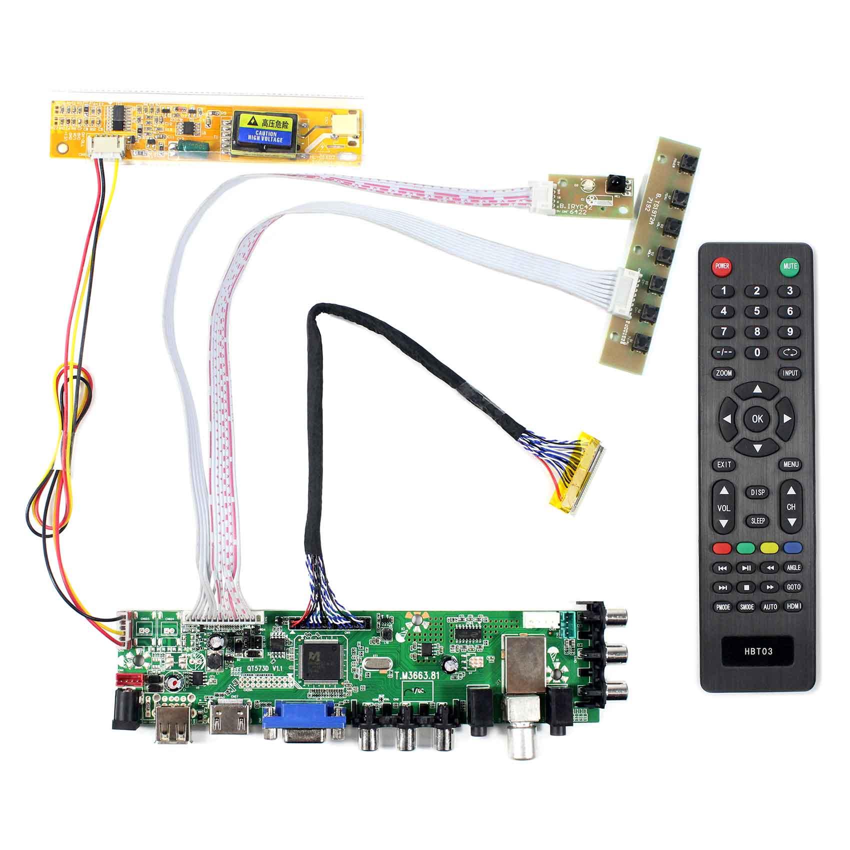 B170PW03 B170PW06 LP171WP4 LTN170X2 B170PW01 LTN170WX LP171WX2 LTN170BT08 LP171WPA HDMI USB VGA AV ATV DTV ЖК-дисплей драйвер платы