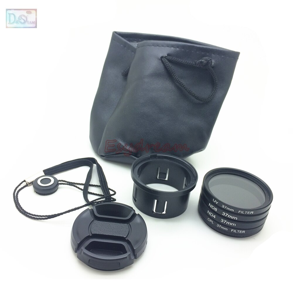 37 набор фильтров UV + CPL + ND4 + ND8 + кольцевая трубка адаптера + крышка объектива для DJI Phantom 3 Standard Professional Advanced SE Phantom 4