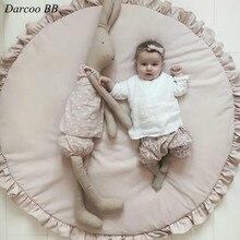 Mode hiver bébé tapis de jeu 100cm tapis rose blanc tapis Portable chaud couverture jeu tapis enfants jouet escalade tapis