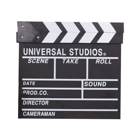 As melhores ofertas 12x11 polegadas/30cm x 27cm de madeira filme do diretor placa de clapper slateboard