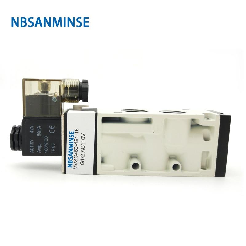 "NBSANMINSE MVSC Pneumatic Valve Pneumatic Solenoid Valve G1/8"" G1/4"" G3/8"" G1/2"" G3/4""  G1"" Air Control 3Way 4Way Valve"