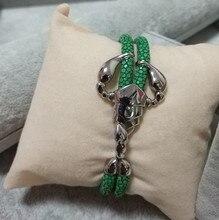 Véritable Bracelet Stingray noir & bleu montre haute accessoires Scorpion luxe thaïlande cuir stingray bracelet pour montre