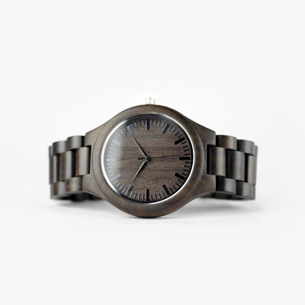 Часы REDEAR из черного сандалового дерева ручной работы, крутые часы для влюбленных из натурального дерева, кварцевые автоматические часы в по...
