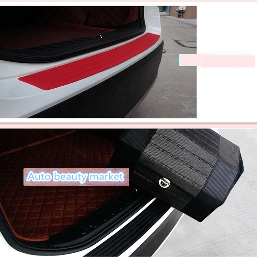 Coche de goma para parachoques trasero de La etiqueta engomada para Chevrolet Cruze Aveo Captiva Lacetti Mazda 3 6 2 Mitsubishi ASX Lancer Outlander Accesorios