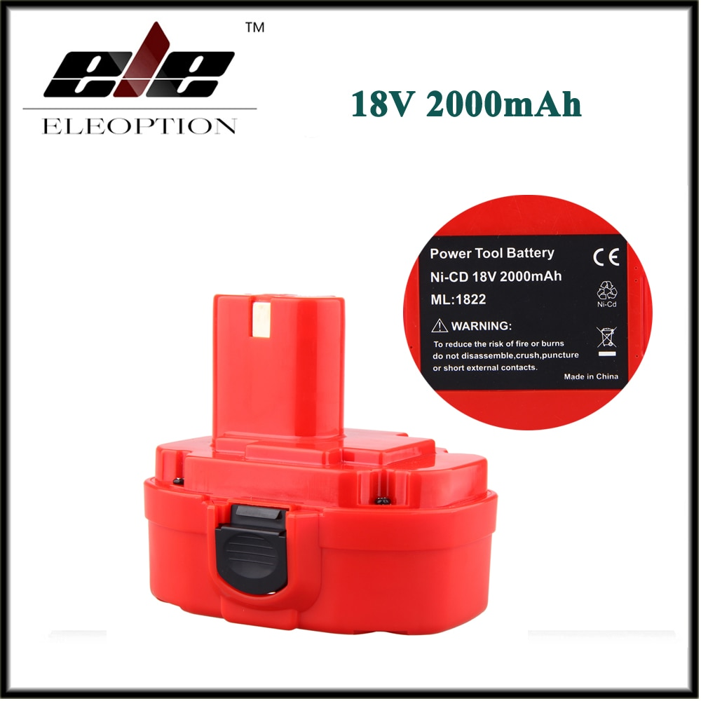ELE ELEOPTION 18В 2.0AH 2000 мАч Ni-CD аккумуляторная батарея для MAKITA 1822 192826-5 192827-3 PA18 18 вольт