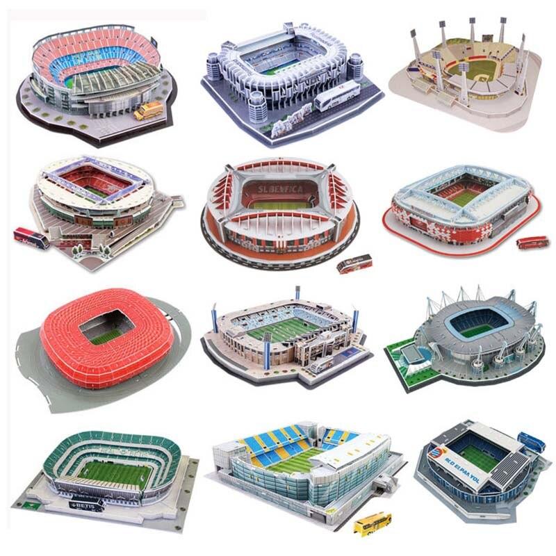 Rompecabezas estéreo 3D estadio de fútbol 2018 estadio de fútbol ruso rompecabezas para niños DIY collage juguetes ensamblados