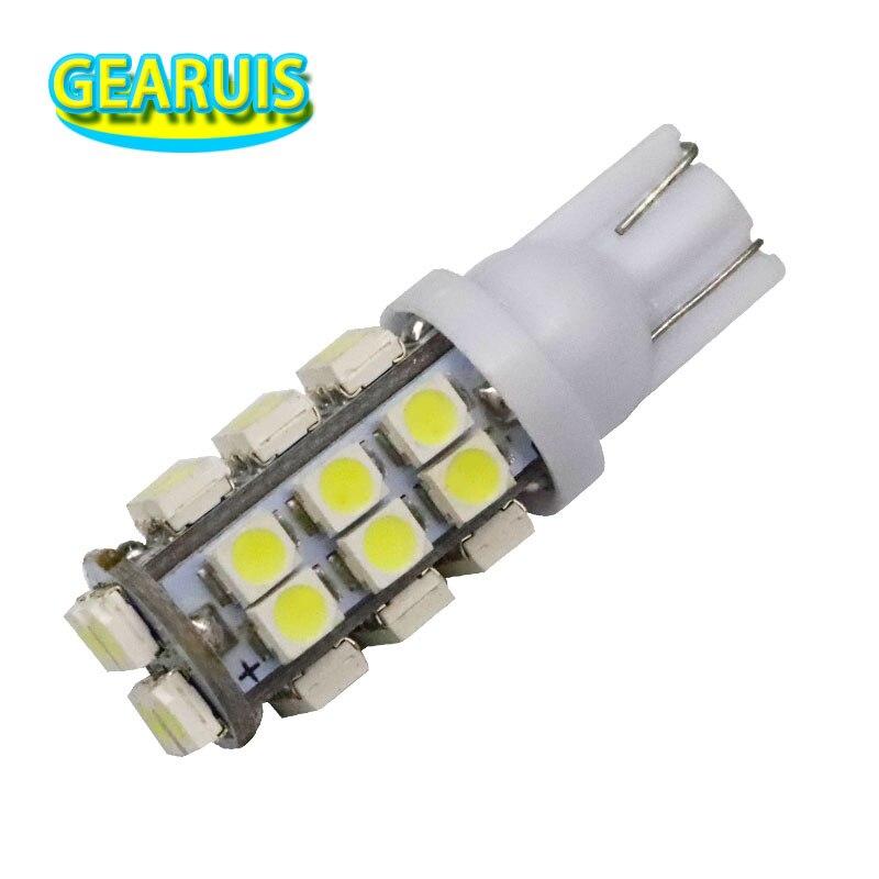 100 Uds alta potencia T10 28 SMD 1210 3528 led 168 194 W5W Auto cuña señal bombillas blanco Azul Rojo LED T10 28 bombillas led 12V