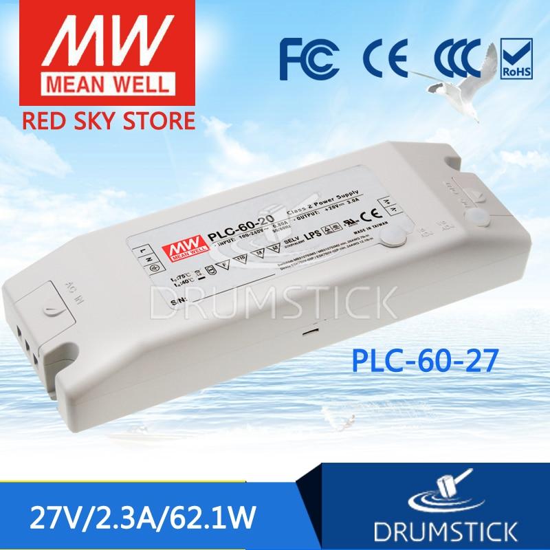 Decir bueno PLC-60-27 27V 2.3A meanwell PLC-60 27V 62,1 W de salida única LED fuente de alimentación