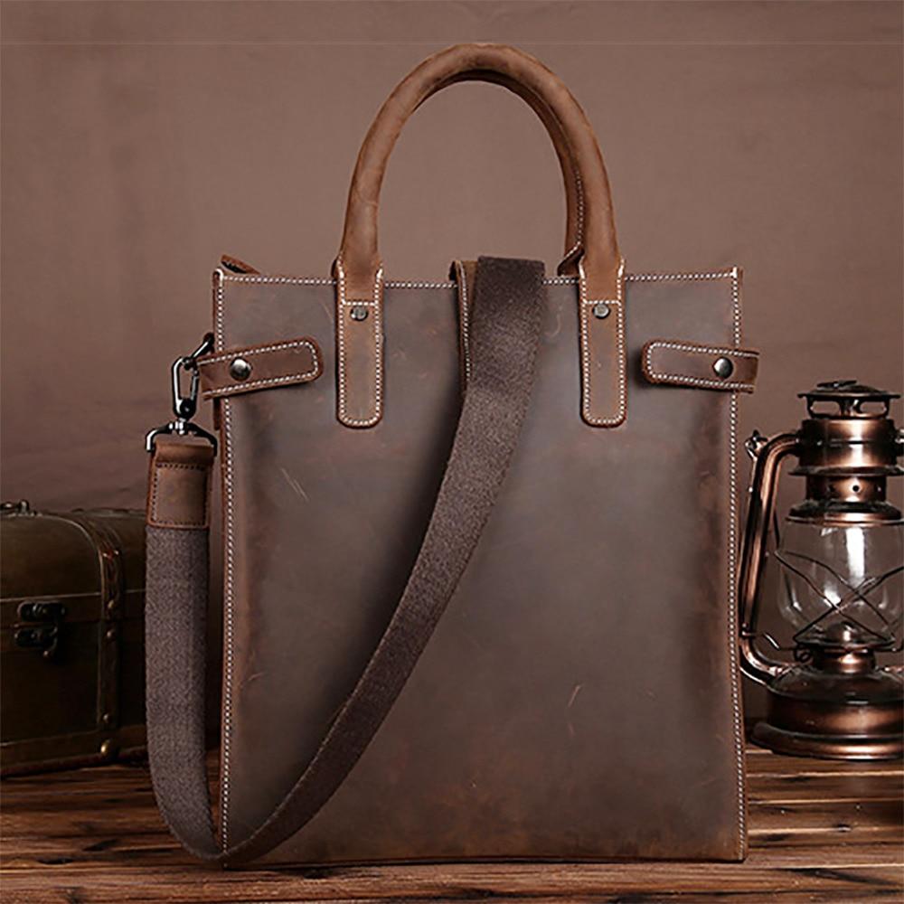 كريزي هورس-حقيبة يد جلدية أصلية للرجال ، حقيبة كتف ، حقيبة يد