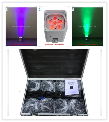 -10 Luces + rgbawuv 6x12w 6in1 wifi batería slim por luz LED DMX Par etapa luz Bar discoteca Fiesta de DJ Club mostrar Uplighting