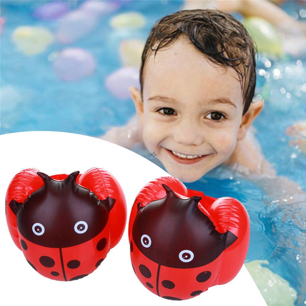 Nuevo, 1 par, bonito anillo de seguridad para brazo de natación con dibujo animado para chico bebé, manga inflable flotante