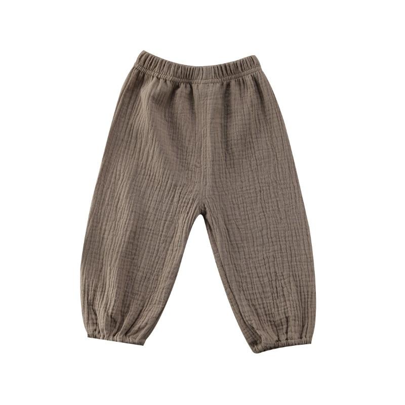 Pudcoco 2017 New Fashion Baby Pant Autumn Winter Retro Style Wrinkle Cotton Pants Kids Clothes Pants