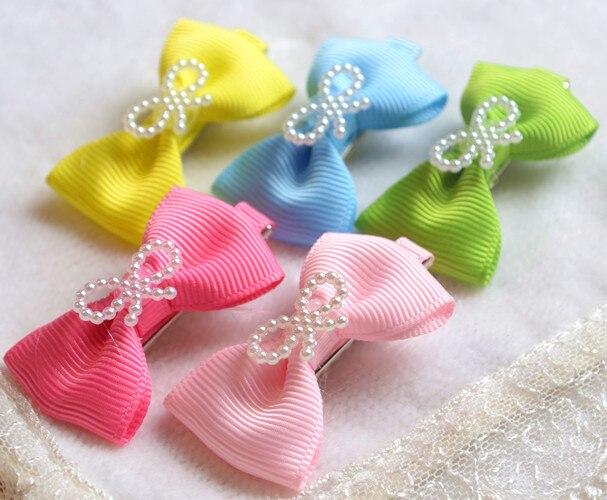 Pet dog hair accessories wholesale Teddy general hairpin flower head hair bow clip 30pcs
