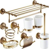 Антикварная стойка для полотенец в европейском стиле, аксессуары для ванной комнаты, резной держатель для бумаги, держатель для туалетных щ...
