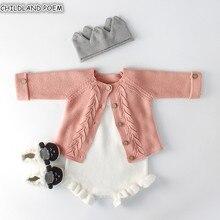Niñas ropa de bebé otoño bebé de mameluco, recién nacido cardigan para niña bebé suéter de los niños mono de algodón para bebé para las niñas